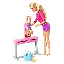 """Barbie Игровой набор """"Тренер по гимнастике"""", Кукла Барби с малышкой"""