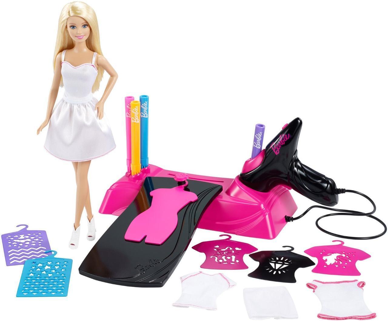 Barbie Игровой набор «Дизайн-студия для создания цветных нарядов с куклой Барби»