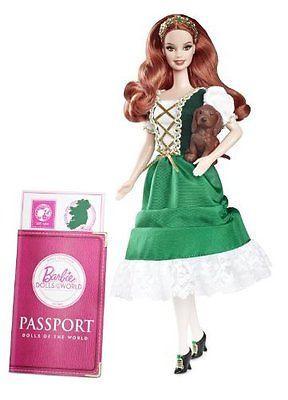 """Barbie Коллекционная кукла Барби """"Куклы Мира"""", Ирландия"""