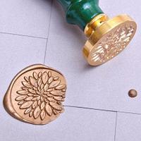 Штампы для сургуча 35 мм. с цветной ручкой.