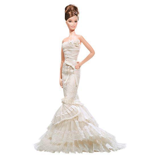 """Barbie Коллекционная кукла Барби """"Романтичная невеста"""" от Веры Вонг"""