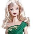 Barbie Коллекционная кукла Блондинка в зеленом платье - Праздничная 2011, Барби, фото 3