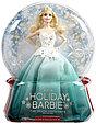 Barbie Коллекционная кукла Блондинка в зеленом платье - Праздничная 2016, Барби, фото 2