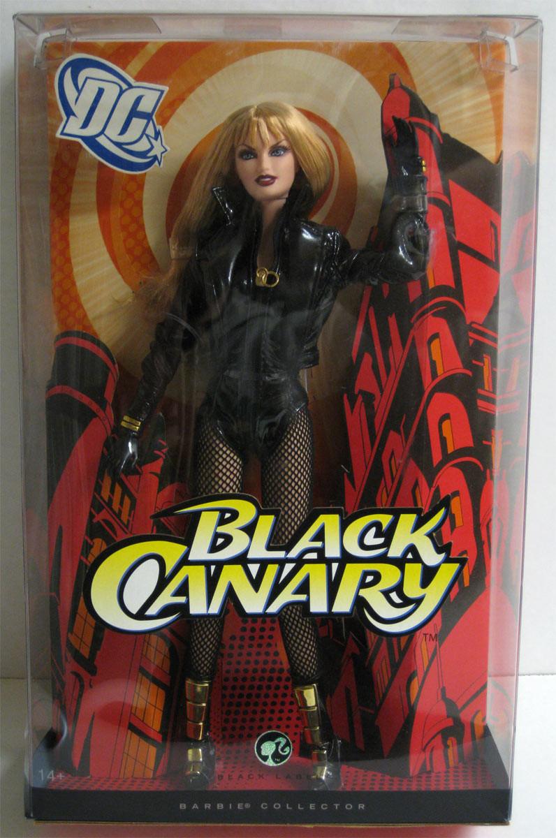 Barbie Коллекционная кукла Черная Канарейка, Барби DC