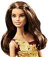 Barbie Коллекционная кукла Шатенка в красном платье - Праздничная 2016, Барби, фото 5