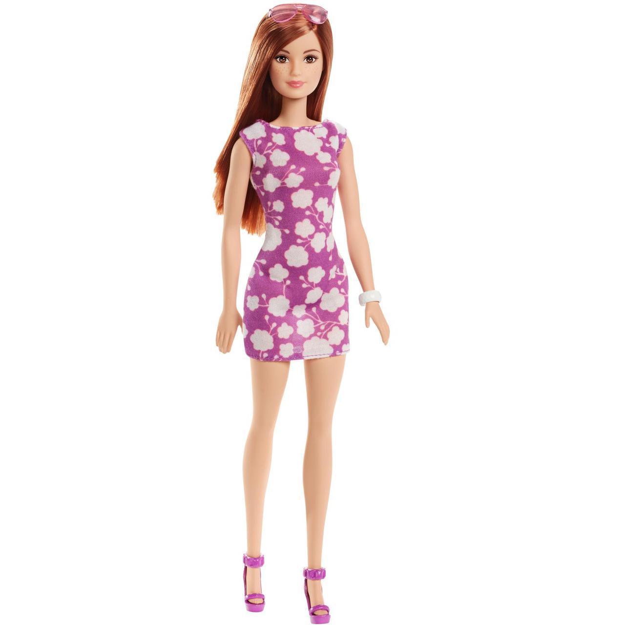 Barbie Кукла Барби Рыжая в лиловом платье