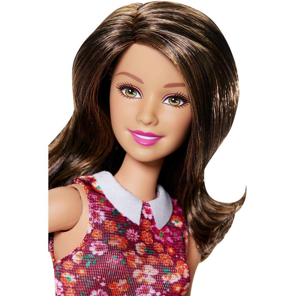 Barbie Кукла Барби Шатенка с набором дополнительной обуви
