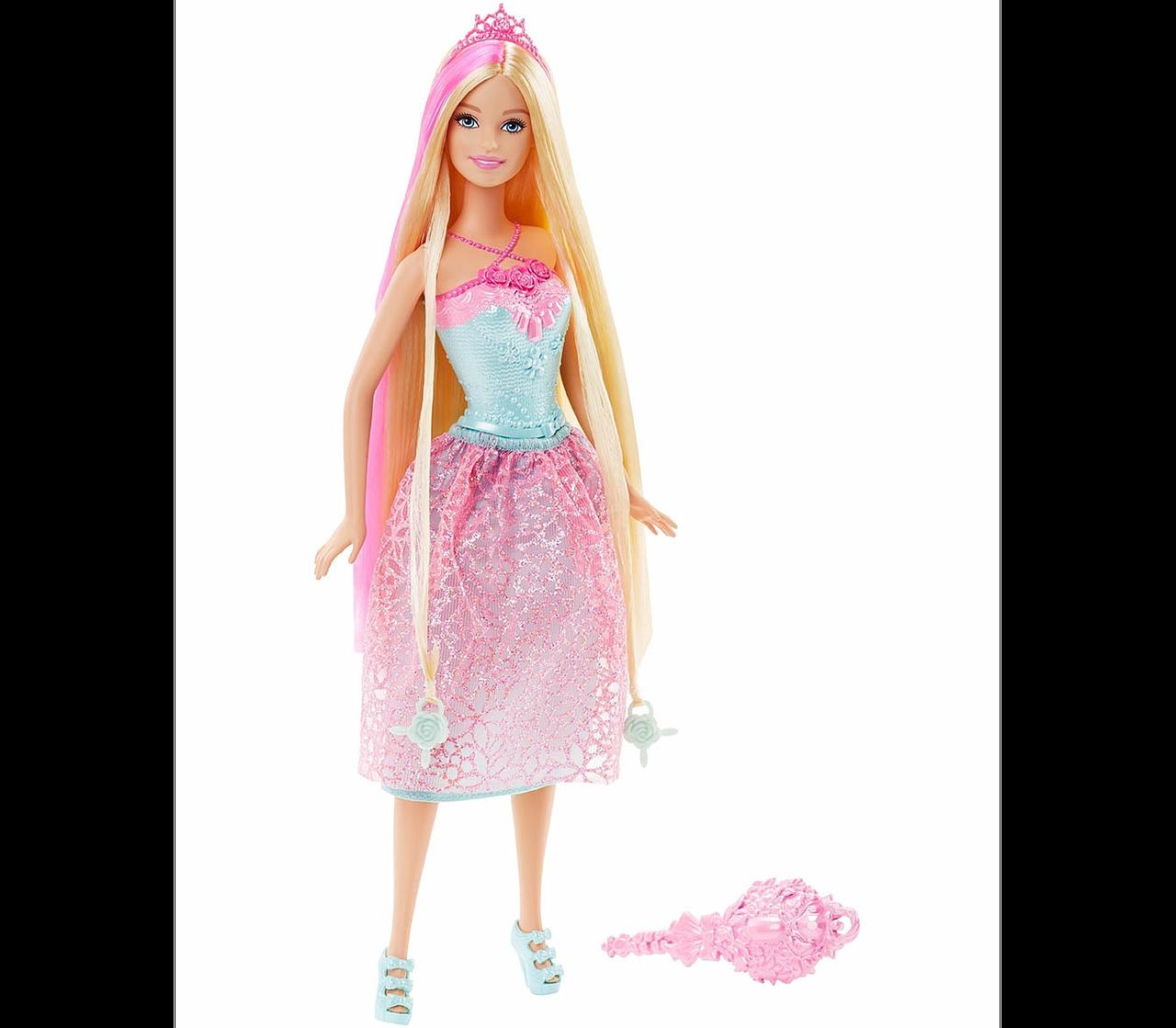 Barbie Кукла Принцесса Барби с длинными волосами - золотые