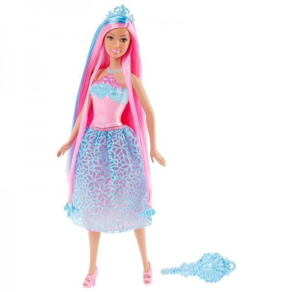 Barbie Кукла Принцесса Барби с длинными волосами - розовые