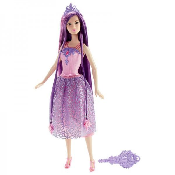 Barbie Кукла Принцесса Барби с длинными волосами - фиолетовые