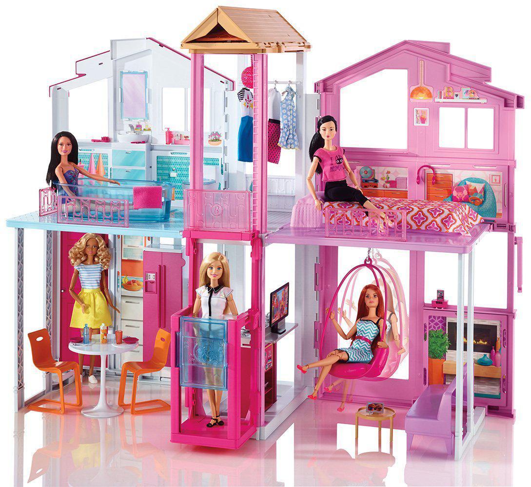"""Barbie Кукольный домик Барби """"Городской дом Малибу"""""""
