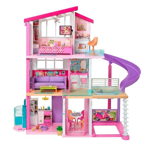 """Barbie Кукольный домик Барби """"Дом мечты"""" с горкой"""