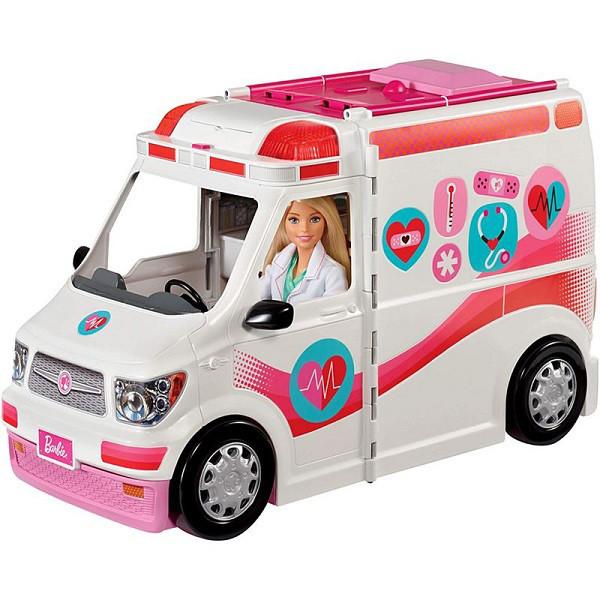 Barbie Машина скорой помощи Барби (свет, звук)