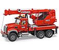 Bruder Игрушечная Пожарная машина Автокран MACK (Брудер), фото 2