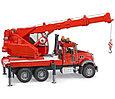 Bruder Игрушечная Пожарная машина Автокран MACK (Брудер), фото 4
