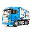 Bruder Игрушечный Грузовик для перевозки животных Scania с коровой (Брудер), фото 2