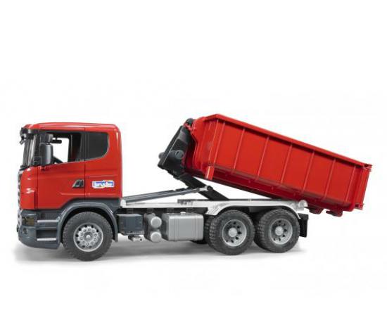 Bruder Игрушечный Контейнеровоз Scania со снимающимся контейнером (Брудер)