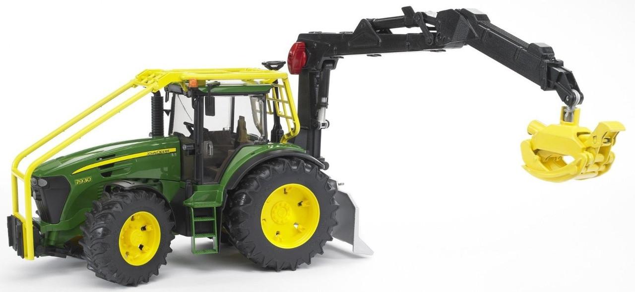 Bruder Игрушечный Лесной Трактор с манипулятором John Deere 7930 Forsttraktor (Брудер)