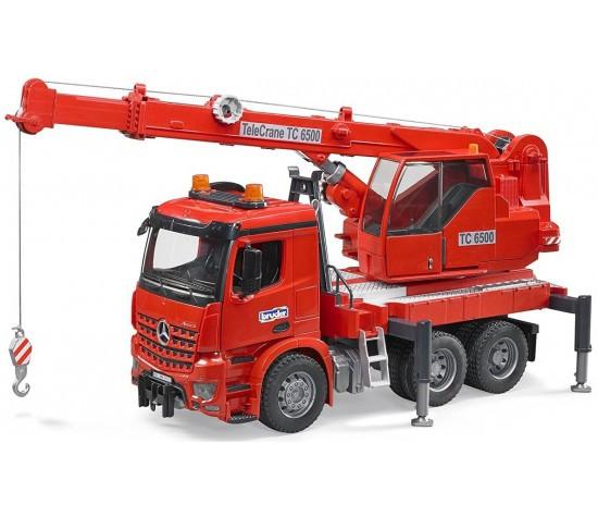 Bruder Игрушечный Пожарный Автокран Mercedes-Benz Arocs (Брудер)
