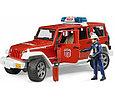 Bruder Игрушечный Пожарный Внедорожник Jeep Wrangler Rubicon с фигуркой (Брудер), фото 2