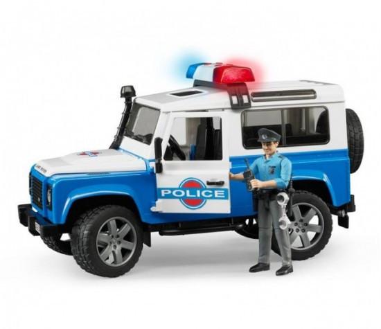 Bruder Игрушечный Полицейский Внедорожник Land Rover Defender с фигуркой 02-595 (Брудер)