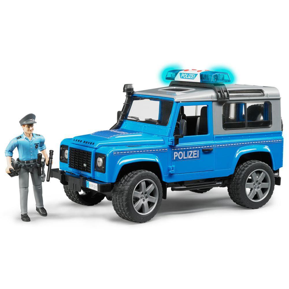 Bruder Игрушечный Полицейский Внедорожник Land Rover Defender с фигуркой 02-597 (Брудер)