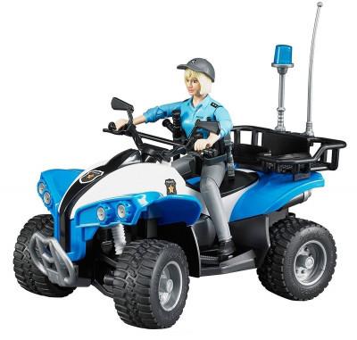 Bruder Игрушечный Полицейский Квадроцикл  с фигуркой женщины офицера (Брудер)