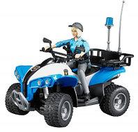 Bruder Игрушечный Полицейский Квадроцикл с фигуркой офицера (Брудер)
