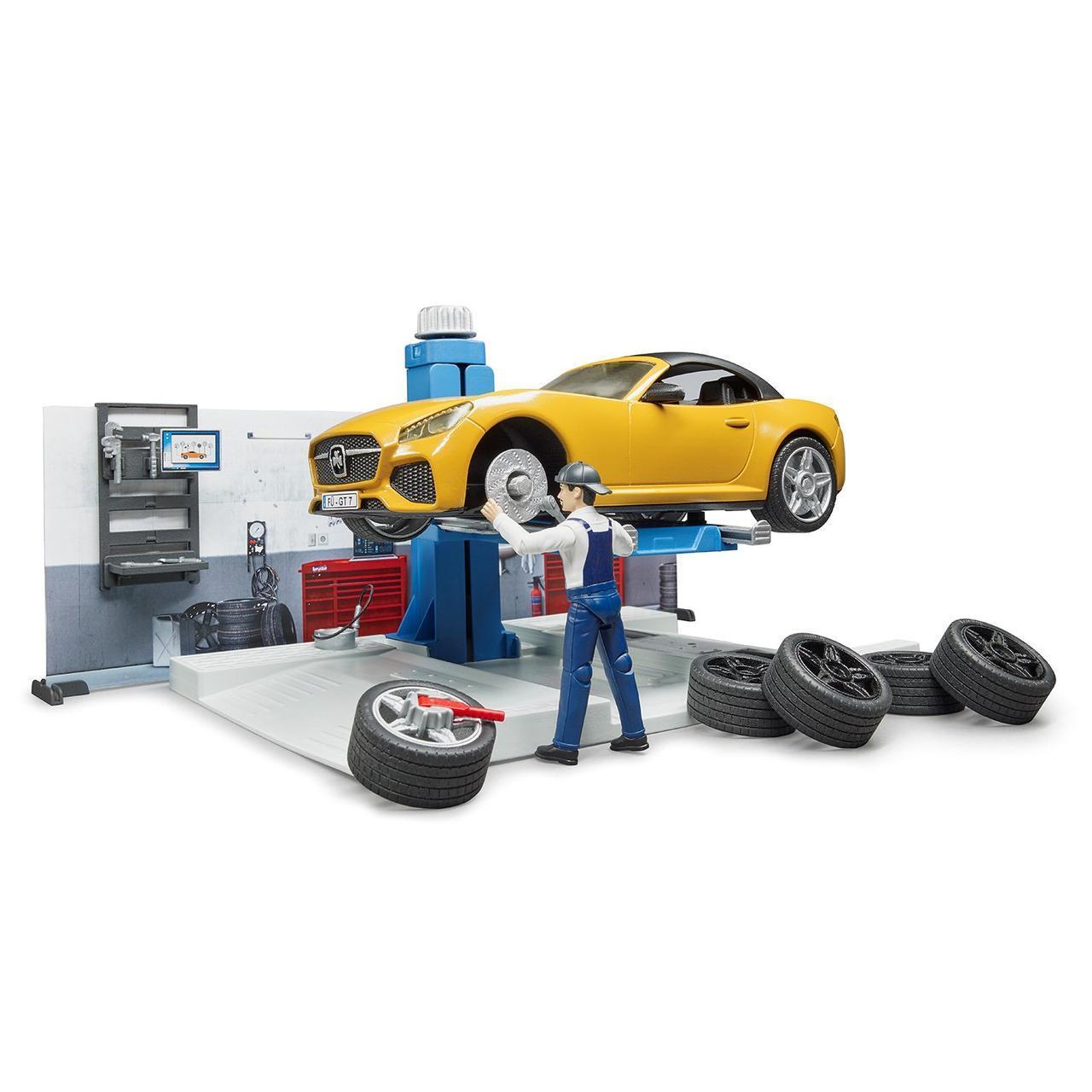 Bruder Игрушечный Ремонтный набор для автомобиля Roadster (Брудер 62-110)