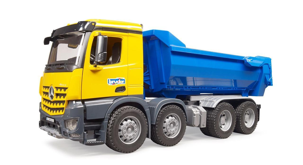 Bruder Игрушечный Самосвал Mercedes-Benz с синим кузовом (Брудер 03-623)