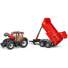 Bruder Игрушечный Трактор Case IH Optum 300 CVX с прицепом (Брудер)