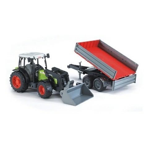 Bruder Игрушечный Трактор Claas Nectis 267 F с погрузчиком и прицепом (Брудер)
