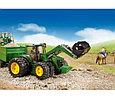 Bruder Игрушечный Трактор John Deere 7930 с погрузчиком и прицепом (Брудер), фото 2