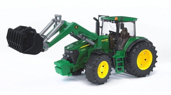 Bruder Игрушечный Трактор с погрузчиком John Deere 7930 (Брудер)