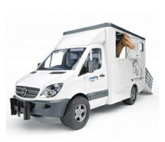 Bruder Игрушечный Фургон Mercedes-Benz Sprinter с лошадью (Брудер)