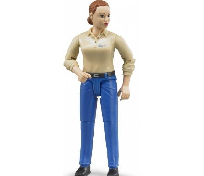 Bruder Фигурка женщины в голубых джинсах (Брудер)
