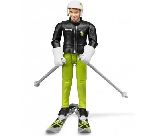 Bruder Фигурка лыжника с аксессуарами (Брудер)
