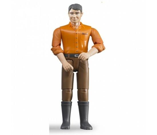 Bruder Фигурка мужчины в коричневых джинсах (Брудер)