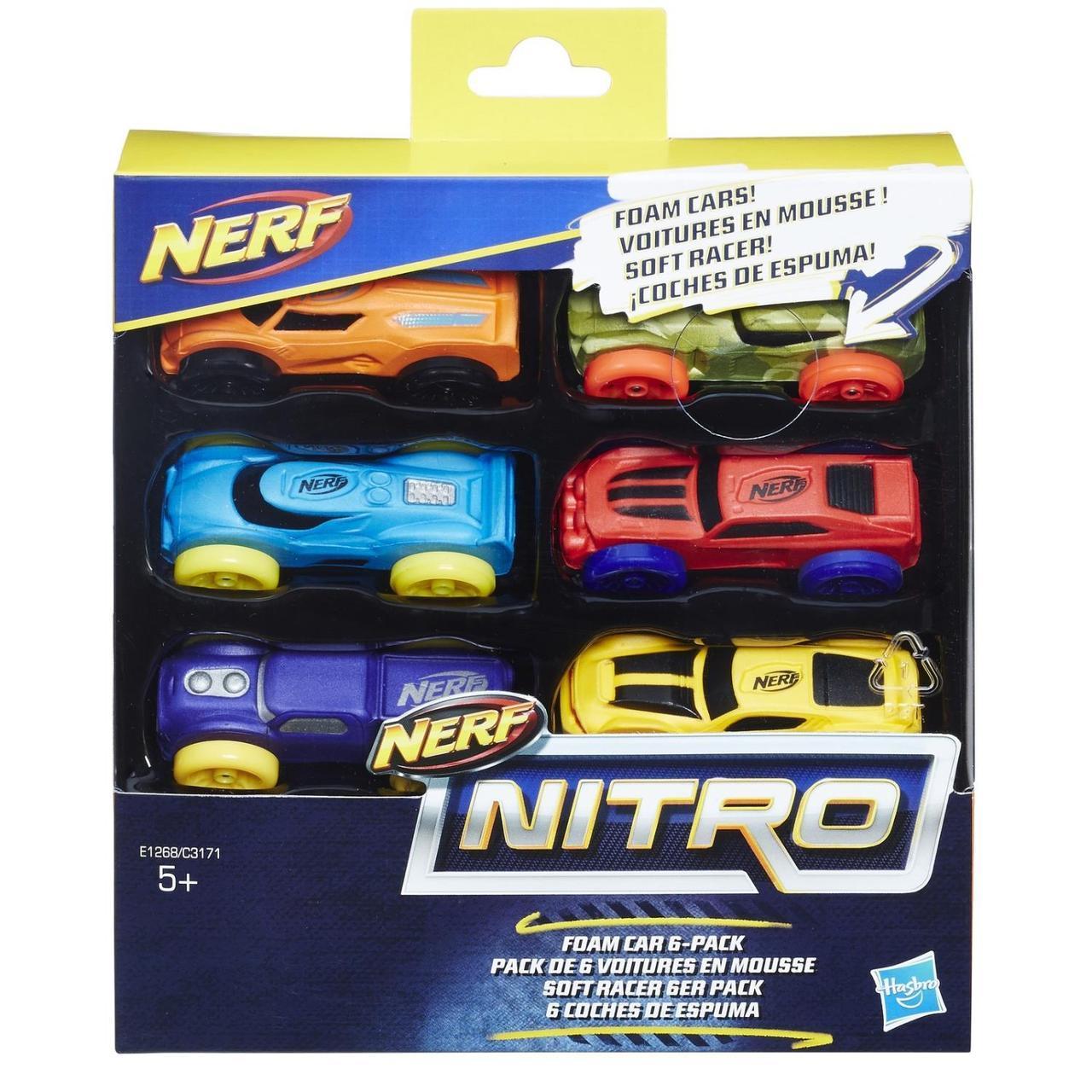 Hasbro Nerf Nitro Набор из 6 машинок Нитро