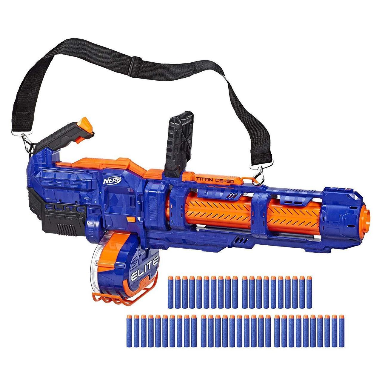 Hasbro Nerf N-Strike Elite Автоматический Бластер Титан CS-50 (Titan CS-50), Пулемёт Миниган Нёрф