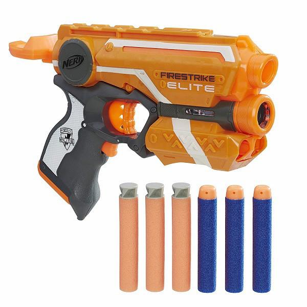 "Hasbro Nerf N-Strike Elite Пистолет Бластер ""Файрстрайк"" (Firestrike) - 2 вида стрел"