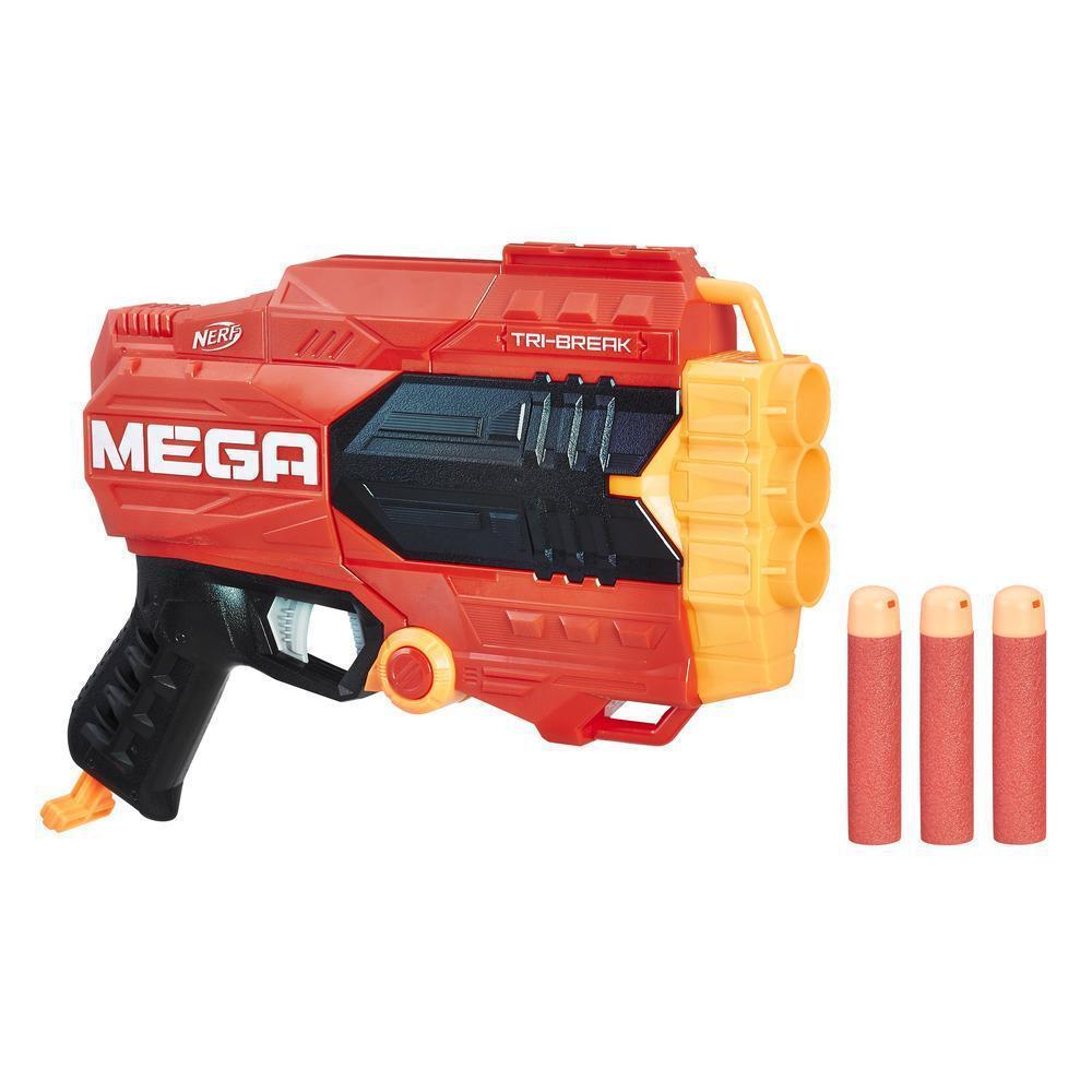"Hasbro Nerf N-Strike Mega Пистолет Бластер ""Три-Брейк"" (Tri-Break)"