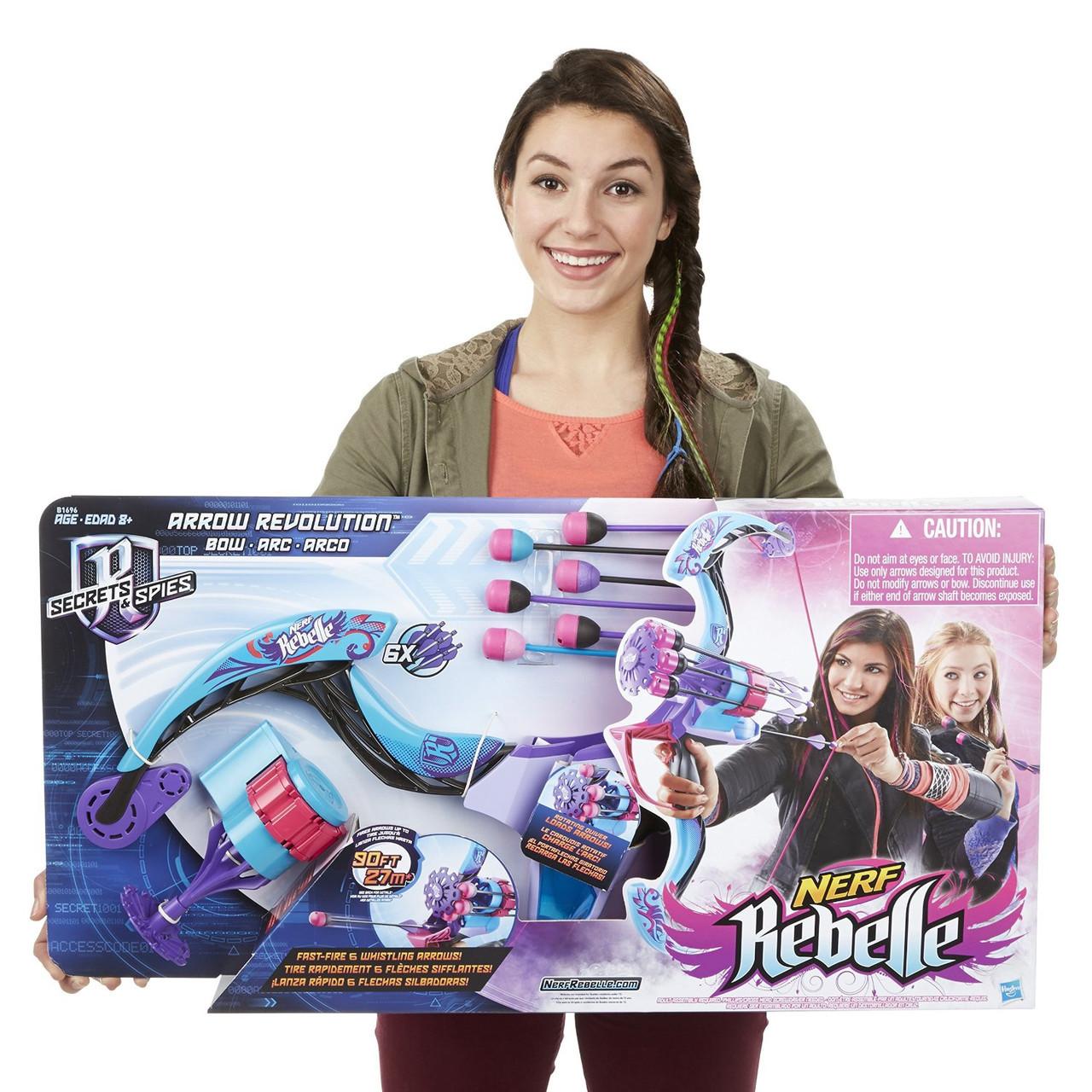 """Hasbro Nerf Rebelle Лук Бластер для девочки """"Блочный лук"""""""
