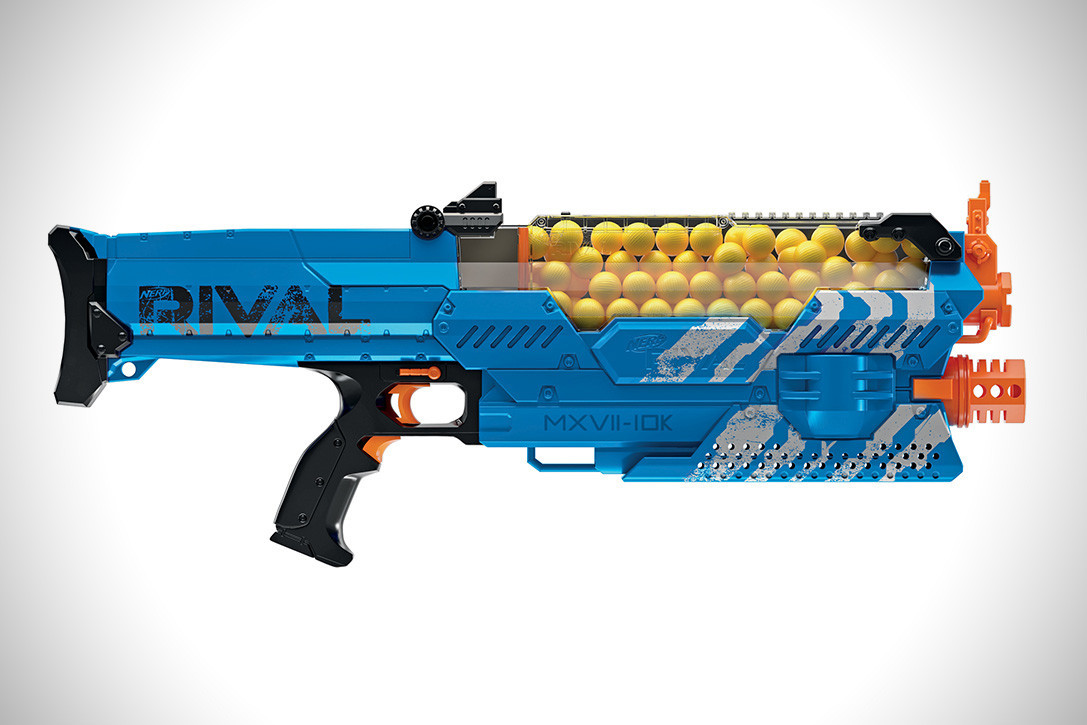 "Hasbro Nerf Rival Бластер ""Немезида MXVII-10K"" (Nemesis MXVII-10K) (Синяя команда)"