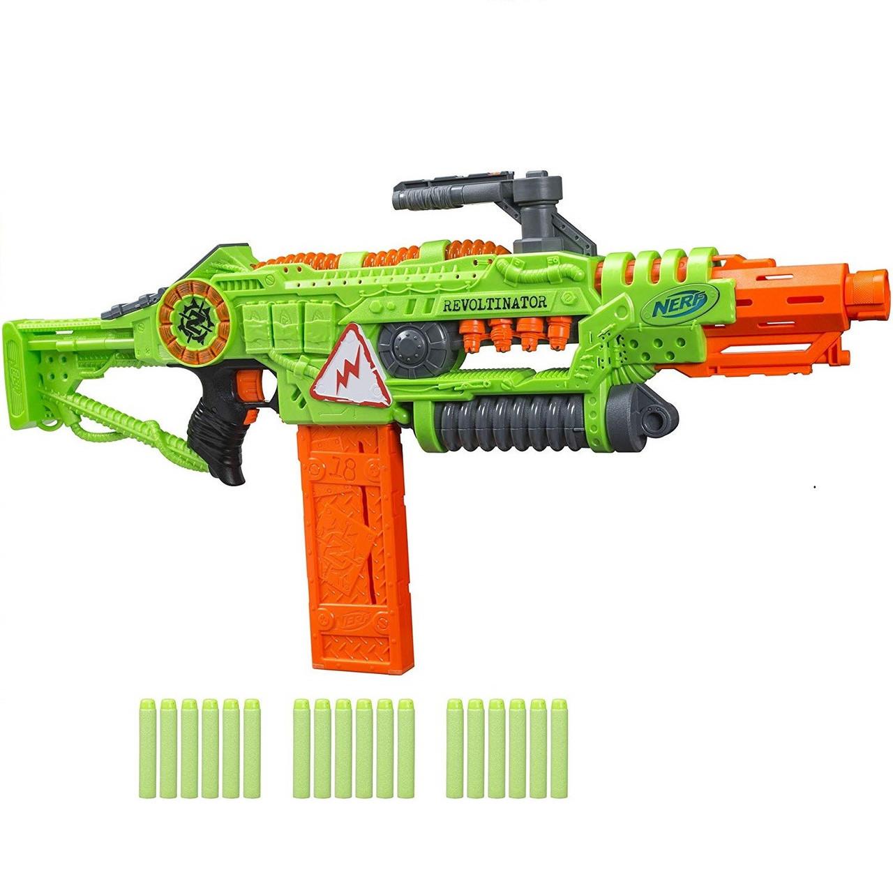 "Hasbro Nerf Zombie Strike Бластер Зомби Страйк ""Револтинатор"" (Revoltinator), Нёрф E3060"