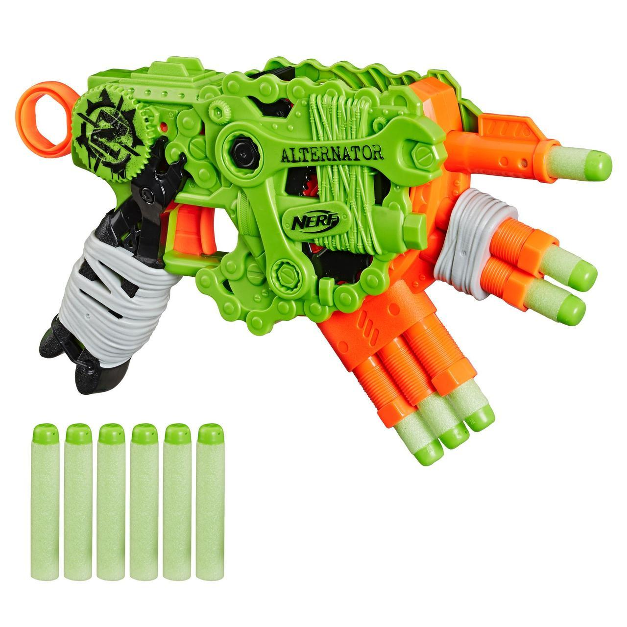 "Hasbro Nerf Zombie Strike Пистолет Бластер ""Альтернатор"" (Alternator)"