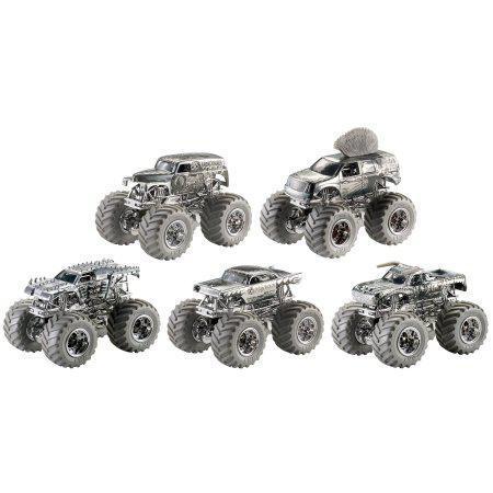"""Hot Wheels """"Monster Jam: Серебрянная коллекция"""" Серия машинок в ассортименте, 1:64, Хот Вилс"""