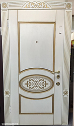 Входная Дверь «Белая с патиной»