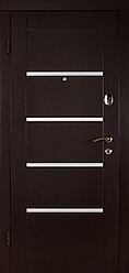 Входная Дверь «Венге с полосками хром»