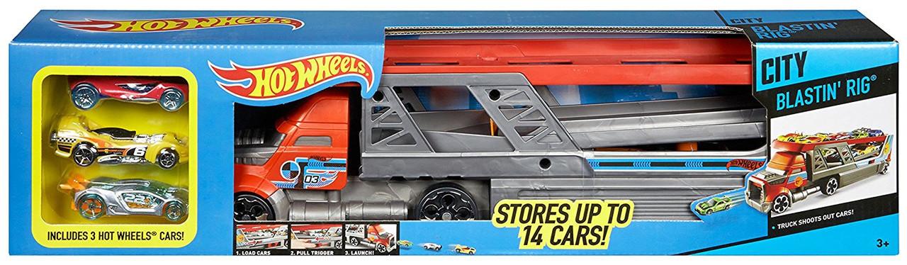 Hot Wheels Автовоз-пускатель на 14 машинок